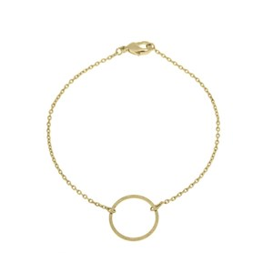 Small circle bracelet 02-Gold plated