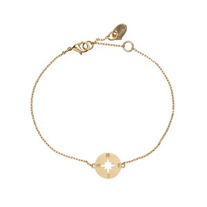 Compass bracelet 02-Gold plated