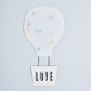 Love Hot Air Balloon Card