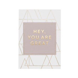 Hey, you are great gold postcard