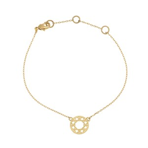 Dreamcatcher bracelet 02-Gold plated