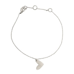 New heart bracelet 01-Silver Finishing