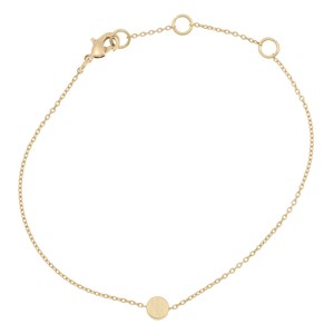 Sliding circle bracelet 02-Gold plated