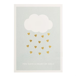 You have a heart of gold postcard