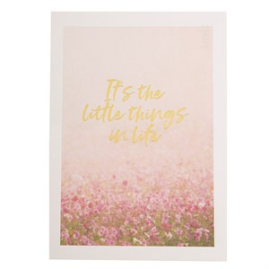 It's the little things in life postcard