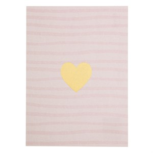 Heart w/ striped background postcard