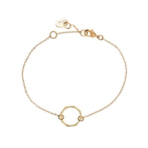 Small Octagon Bracelet 02-Gold plated