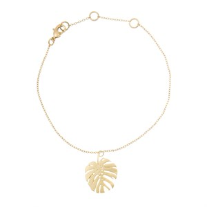 Monstera bracelet 02-Gold plated
