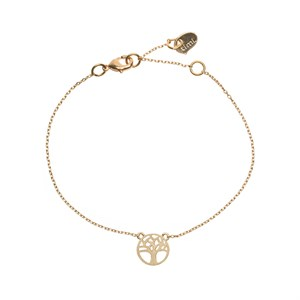 Joshua tree bracelet 02-Gold plated