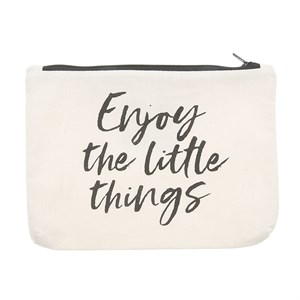 Canvass Pouch-Enjoy the Little Things