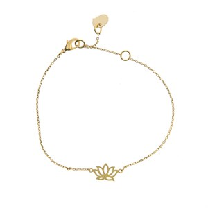 Lotus Bracelet 02-Gold plated