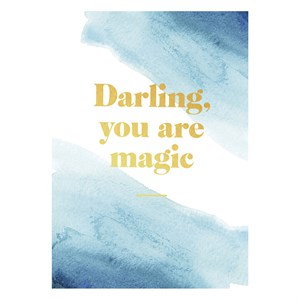 Darling you are magic postcard