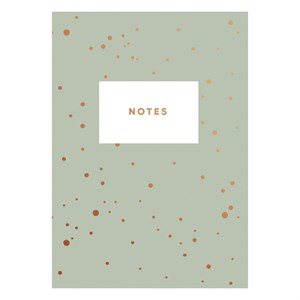 Green with dots notebook