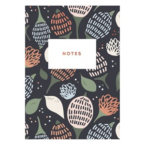 Dark flower notebook