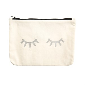Canvass Pouch Metallic-Eyes 422-Silver