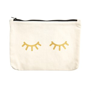 Canvass Pouch Metallic-Eyes 902-Gold