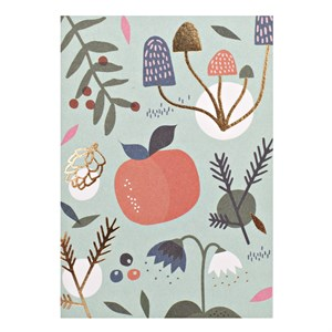 Small Greeting Card-Apple & Mushrooms
