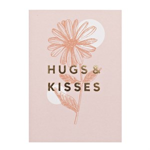 Small Greeting Card-Hugs & Kisses