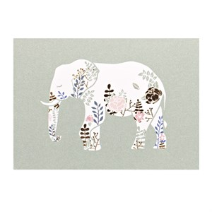 Small Greeting Card-Elephant