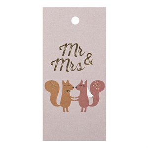 Gift Tag-Mr. & Mrs.
