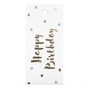 Gift Tag-Happy Birthday Gold