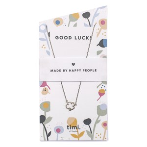 Good Luck Clover Necklace 01-Silver Finishing