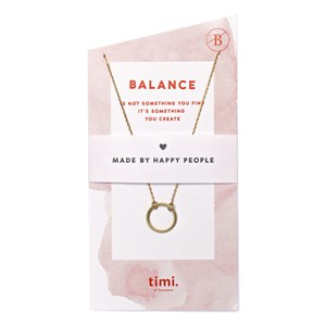 Balance Circle Necklace 02-Gold plated