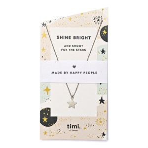 Shine Bright New Star Necklace 01-Silver Finishing
