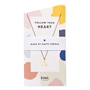Follow Your Heart Necklace 02-Gold plated