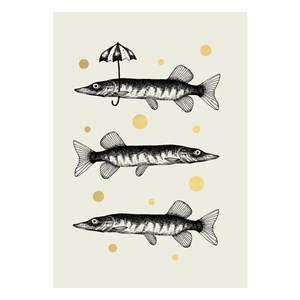 Small Greeting Card-Fishes