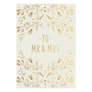 Small Greeting Card-Mr. & Mrs. Flowers
