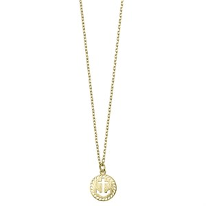 New Anchor Plate Necklace 02-Gold plated