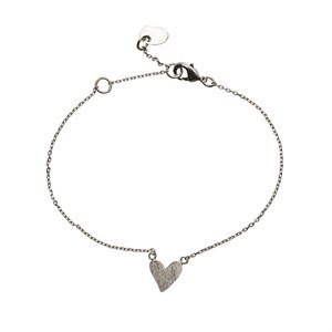 Irregular Heart Bracelet 01-Silver Finishing