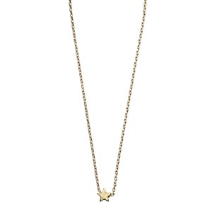 Sliding Star Necklace 02-Gold plated