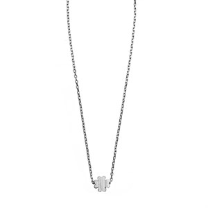 Sliding Clover Necklace 01-Silver Finishing