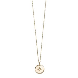 Star Plate Long Necklace 02-Gold plated