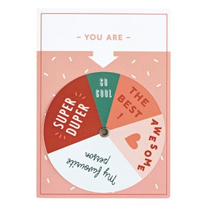 New spinning wheel greeting card
