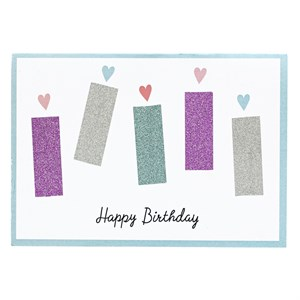 Happy Birthday glitter tape greeting card