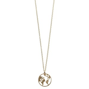 Earth Pendant Long NL 02-Gold plated