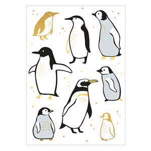 Small Greeting Card-Penguins
