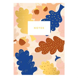 Notebook-Leaf and Acorn