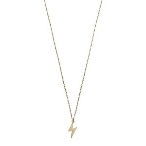 Lightning Necklace 02-Gold plated