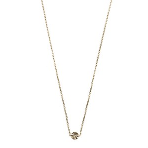 Sliding Flower Necklace 02-Gold plated
