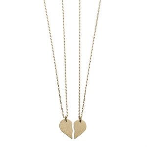 Broken Heart Necklaces 02-Gold plated