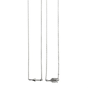 Broken Arrow Necklaces 01-Silver Finishing