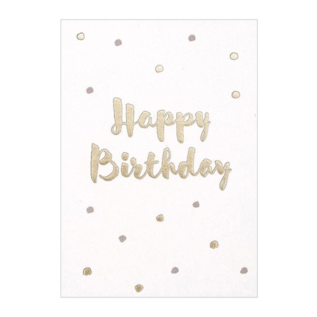 Happy Birthday Polka Dot Postcard