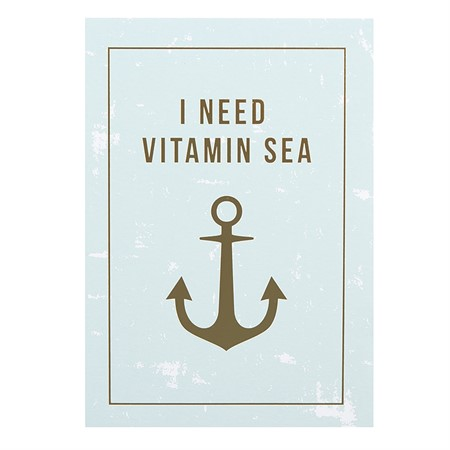 I Need Vitamin Sea Laminated Postcard