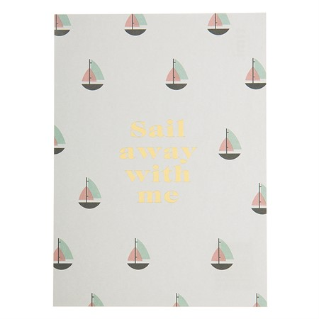 Sail Away with Me Postcard