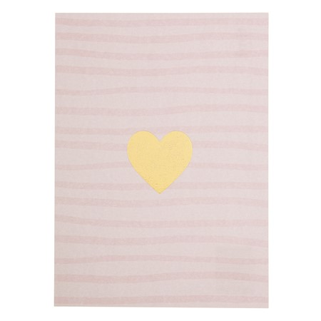 Heart with Stripe Background Postcard