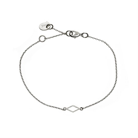 Armband med Diamant Silver